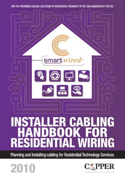 installer cabling handbook for residential wiring rh voltimum com au Residential Electrical Wiring Codes Residential Wiring Color Codes